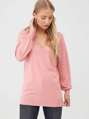 Very Blouson Sleeve Jumper - Dusty Pink