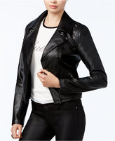 GUESS Rono Faux-Leather Moto Jacket