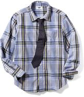 Old Navy Button-Front Shirt & Tie Set for Boys
