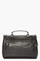 Proenza Schouler black leather foldover PS1 messenger bag