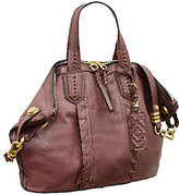 Oryany As Is Cassie Matte Snake Leather Medium Tote
