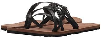 Volcom Strap Happy Sandals (Black) Women's Sandals