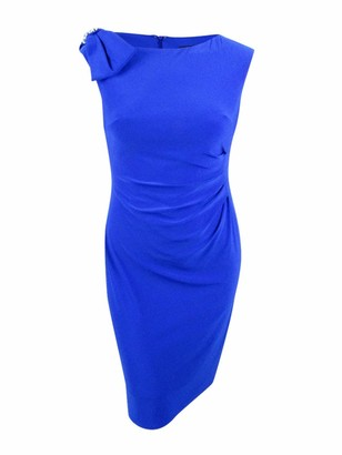 Jessica Howard Women's Cap Sleeve Side Tuck Sheath
