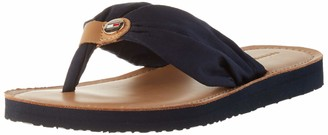Tommy Hilfiger Women's Leather Footbed Beach Flip Flop