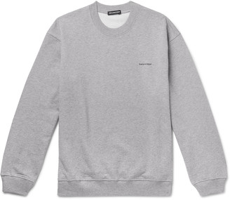 Balenciaga Logo-Print Loopback Cotton-Jersey Sweatshirt