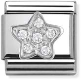 Nomination Stainless Steel, Silver and Cubic Zirconia Star Classic Charm 330304/02
