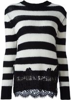 Ermanno Scervino cashmere lace appliqué sweater - women - Cotton/Polyamide/Viscose/Wool - 40