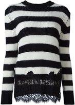 Ermanno Scervino lace appliqué sweater - women - Cotton/Polyamide/Viscose/Wool - 40