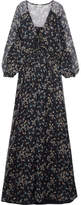 Paul & Joe Floral-print Crinkled Silk-chiffon Maxi Dress - Blue