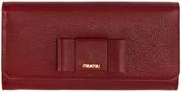 Miu Miu Red Bow Continental Wallet