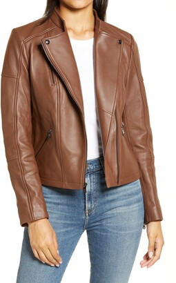 Sam Edelman Lambskin Leather Moto Jacket