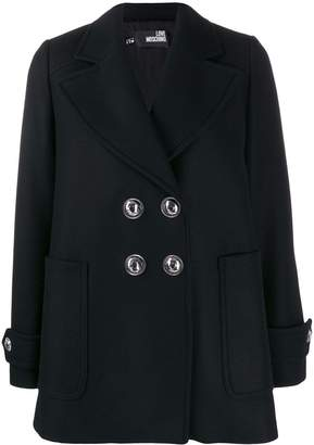 Love Moschino embellished button double-breasted jacket