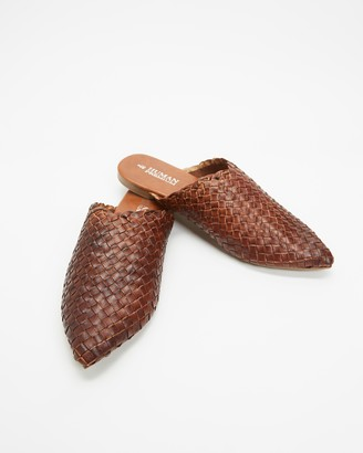 Human Premium - Women's Brogues & Loafers - Mojo Woven Leather Slides - Size 6 at The Iconic