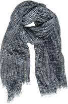 Destin Surl Net Printed Cotton & Cashmere Scarf