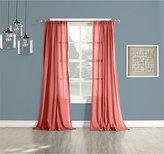 No. 918 Cory Semi-Semi-Sheer Cotton Gauze Cotton Gauze Curtain Panel, 50 by 84-Inch, Coral