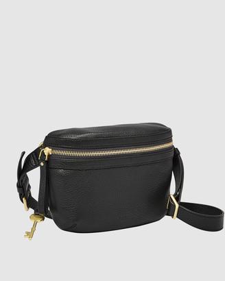 Fossil Brenna Black Shoulder Bag