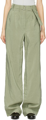 Lemaire Green Silk Loose Pants