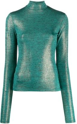 Andamane Beth metallic slim-fit top