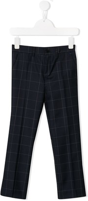 Paul Smith checked straight-leg wool trousers