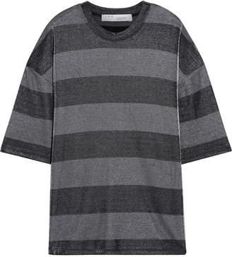 IRO Darby Striped Metallic Jersey T-shirt