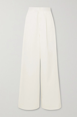 Unravel Project Cotton-twill Wide-leg Pants - White