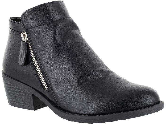 Easy Street Shoes Womens Gusto Booties Block Heel