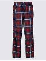 M&S Collection Supersoft Checked Pyjama Bottoms