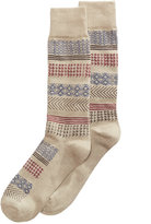 Perry Ellis Men's Mixed-Print Socks