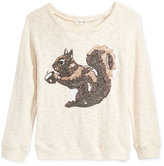 Jessica Simpson Squirrel Graphic Sweater, Big Girls (7-16)