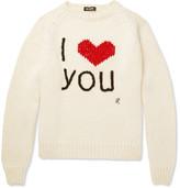 Raf Simons I Love You Intarsia Wool Sweater