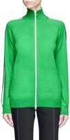 Stella McCartney Stripe sleeve virgin wool knit track jacket