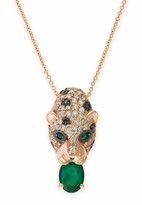 Effy Jewelry Signature Rose Gold Emerald & Diamond Pendant, 1.83 TCW
