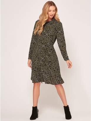 M&Co Animal print shirt dress