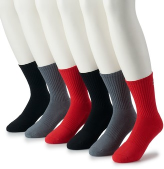 Under Armour Men's 6-pack Charged Cotton 2.0 Performance Crew Socks