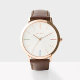 Paul Smith Men's Off-White And Brown 'Ma' Watch