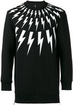 Neil Barrett lightning bolt sweater - men - Cotton/Spandex/Elastane/Lyocell/Viscose - S
