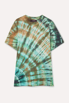 Amiri Distressed Tie-dyed Stretch Cotton-jersey T-shirt