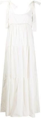 P.A.R.O.S.H. Rhinestone-Embellished Maxi Dress