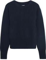 Frame Ribbed Wool And Cashmere-blend Sweater - Navy