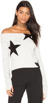 Pam & Gela Star Off Shoulder Sweater