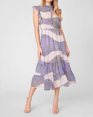 Express All Mixed Up Midi Dress
