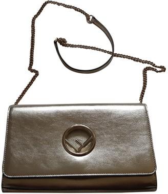 Fendi Kan I logo Metallic Leather Clutch bags