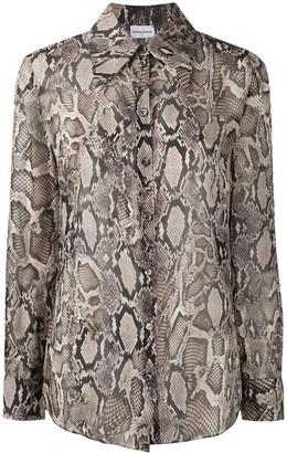 Magda Butrym Snakeskin Print Silk Blouse