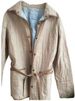 Fay Beige Cotton Leather Jacket for Women