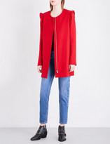 Claudie Pierlot Frilled shoulder twill coat
