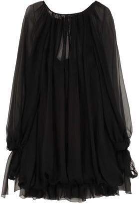 Alberta Ferretti Plain Silk Dress