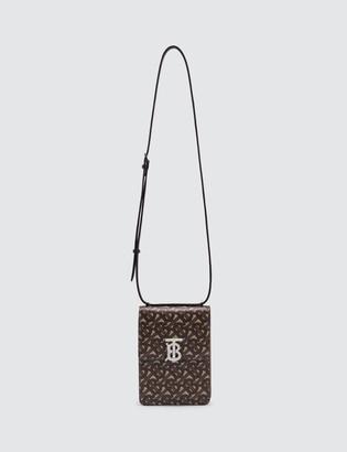 Burberry Monogram Print E-canvas Robin Bag