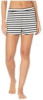 Skin Natural Skin Aubree Lightweight French Terry Shorts (Navy/White Stripe) Women's Shorts