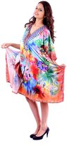 SUNROSE Digital Printed Plus Size Beach Kaftan Caftan Cover up