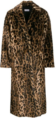 RED Valentino RED(V) leopard print open front coat